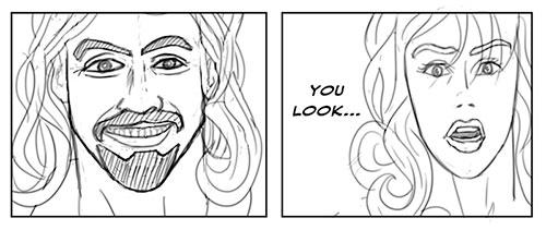 Sketch for Steelbeard Comic